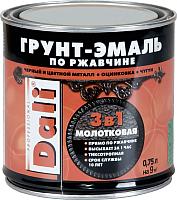 Эмаль DALI Молотковая по ржавчине 3 в 1 (750мл, шоколадный) -