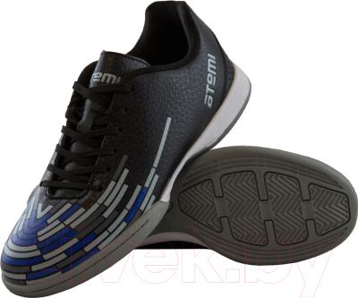 Бутсы футбольные Atemi SD400 Indoor (черный/оранжевый/серый, р-р 37)