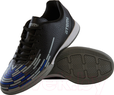 Бутсы футбольные Atemi SD400 Indoor (черный/оранжевый/серый, р-р 40)