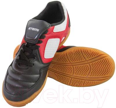 Бутсы футбольные Atemi SD730A Indoor (черный/белый/красный, р-р 35)