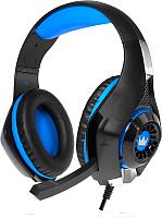 Наушники-гарнитура Crown CMGH-102T (черный/синий) -