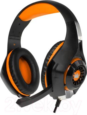 Наушники-гарнитура Crown CMGH-102T (черный/оранжевый)