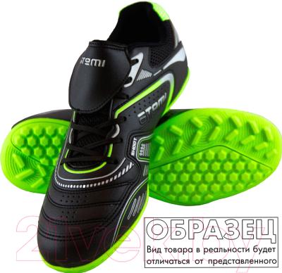 Бутсы футбольные Atemi SD400 TURF (черный/оранжевый/серый, р-р 35)
