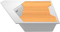 Мойка кухонная KitKraken River K-775 + разделочная доска (белый) -