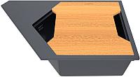 Мойка кухонная KitKraken River K-775 + разделочная доска (графит) -