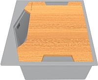 Мойка кухонная KitKraken Ocean K-600 + разделочная доска (серый) -