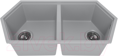 Мойка кухонная KitKraken Gulf K-850.2B (серый)