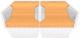 Мойка кухонная KitKraken Gulf K-850.2B + две разделочные доски (белый) -