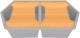 Мойка кухонная KitKraken Gulf K-850.2B + две разделочные доски (серый) -