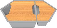 Мойка кухонная KitKraken Creek Y-900M + две разделочные доски (серый) -