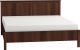 Каркас кровати Глазов Sherlock 42 160x200 (орех шоколадный) -