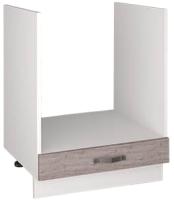 Шкаф под духовку Anrex Alesia 1S/60-F1 (серый/дуб анкона) -