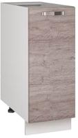 Шкаф-стол кухонный Anrex Alesia 1D/30-F1 (серый/дуб анкона) -