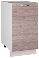 Шкаф-стол кухонный Anrex Alesia 1D/40-F1 (серый/дуб анкона) -