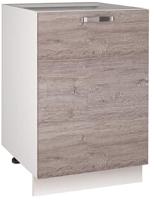 Шкаф-стол кухонный Anrex Alesia 1D/50-F1 (серый/дуб анкона) -