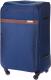Чемодан на колесах Solier STL1316 (L, синий/коричневый) -