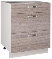 Шкаф-стол кухонный Anrex Alesia 3S/60-F1 (серый/дуб анкона) -