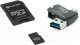 Карта памяти Platinet microSD 16GB + адаптер, картридер / PMMSD16CR4 -