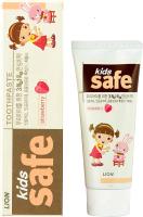 Зубная паста Lion Kids Safe со вкусом клубники от 3-х до 12 лет (90г) -