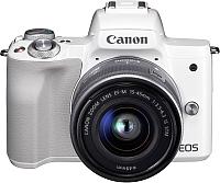 Беззеркальный фотоаппарат Canon EOS M50 IS STM Kit 15-45mm / 2681C012 (белый) -