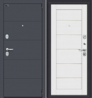Входная дверь el'Porta Porta S 4.Л22 Graphite Pro/Virgin (88x205, правая) -