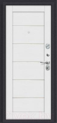 Входная дверь el'Porta Porta S 4.Л22 Graphite Pro/Virgin (88x205, правая)
