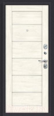 Входная дверь el'Porta Porta S 4.Л22 Graphite Pro/Nordic Oak (88x205, правая)