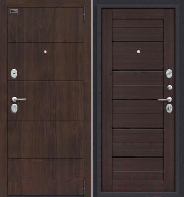 Входная дверь el'Porta Porta S 4.П22 Almon 28/Wenge Veralinga (88x205, правая)