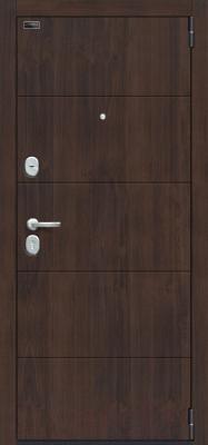 Входная дверь el'Porta Porta S 4.П50 Almon 28/Cappuccino Veralinga (88x205, правая)