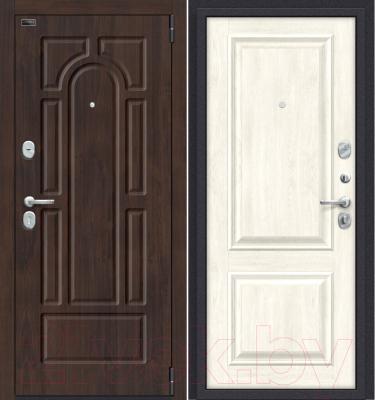 Входная дверь el'Porta Porta S 55.К12 Almon 28/Nordic Oak (88x205, правая)
