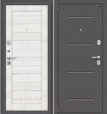 Входная дверь el'Porta Porta S 2 104.П22 Антик серебристый/Bianco Veralinga (88x205, левая)