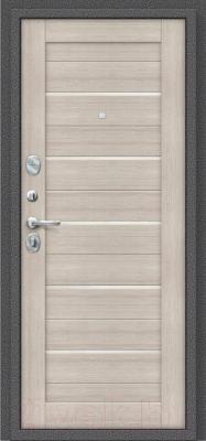 Входная дверь el'Porta Porta S-2 104.П22 Антик серебристый/Cappuccino Veralinga (88x205, левая)