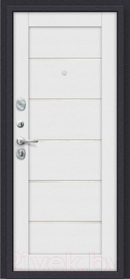Входная дверь el'Porta Porta S 4.Л22 Graphite Pro/Virgin (88x205, левая)
