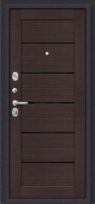 Входная дверь el'Porta Porta S 4.П22 Almon 28/Wenge Veralinga (88x205, левая)
