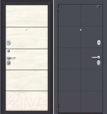Входная дверь el'Porta Porta S 10.П50 Graphite Pro/Nordic Oak (88x205, левая)