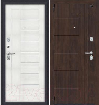 Входная дверь el'Porta Porta S 9.П29 Almon 28/Bianco Veralinga (88x205, левая)