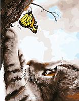 Картина по номерам Picasso Котенок и бабочка (PC4050522) -