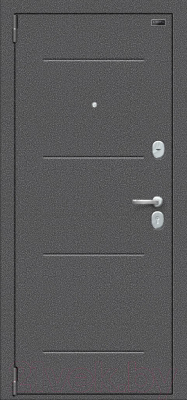 Входная дверь el'Porta Porta S 2 104.П22 Антик серебристый/Cappuccino Veralinga (98x205, левая)