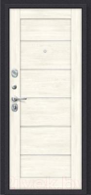 Входная дверь el'Porta Porta S 4.Л22 Graphite Pro/Nordic Oak (98x205, левая)