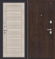 Входная дверь el'Porta Porta S 4.П22 Almon 28/Cappuccino Veralinga (98x205, левая) -
