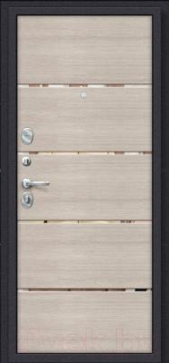 Входная дверь el'Porta Porta S 4.П50 Almon 28/Cappuccino Veralinga (98x205, левая)