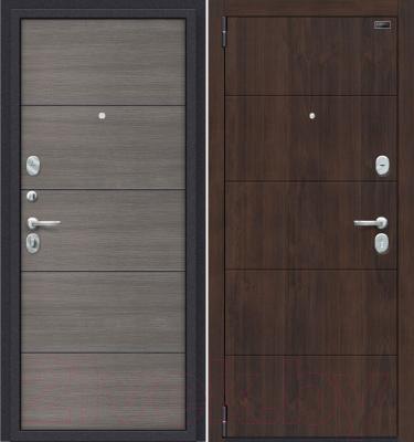 Входная дверь el'Porta Porta S 4.П50 Almon 28/Grey Veralinga (98x205, левая)