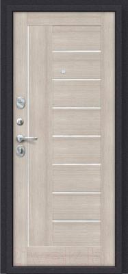 Входная дверь el'Porta Porta S 9.П29 Almon 28/Cappuccino Veralinga (98x205, левая)