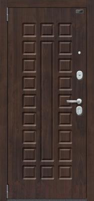Входная дверь el'Porta Porta S 51.П61 Almon 28/Bianco Veralinga (98x205, левая)