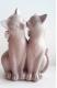 Статуэтка Нашы майстры Коты с бантами 3037 (декорированная) -