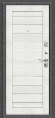 Входная дверь el'Porta Porta S 2 104.П22 Антик серебристый/Bianco Veralinga (98x205, правая)