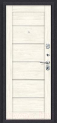 Входная дверь el'Porta Porta S 4.Л22 Graphite Pro/Nordic Oak (98x205, правая)