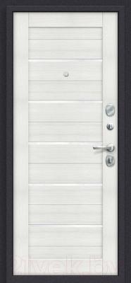 Входная дверь el'Porta Porta S 4.П22 Almon 28/Bianco Veralinga (98x205, правая)