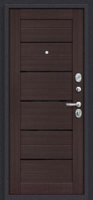 Входная дверь el'Porta Porta S 4.П22 Almon 28/Wenge Veralinga (98x205, правая)