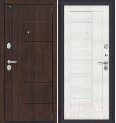 Входная дверь el'Porta Porta S 9.П29 Almon 28/Bianco Veralinga (98x205, правая)